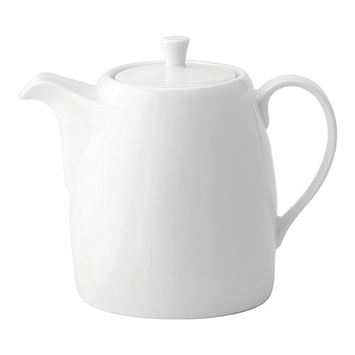 Utopia Anton Black  Tea Pot 35oz White