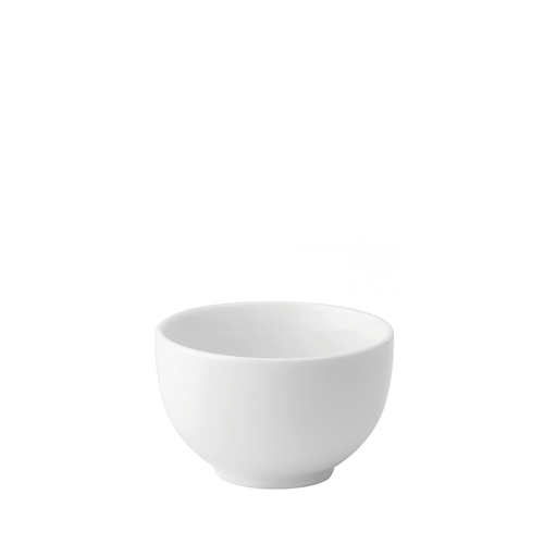 Utopia Anton Black  Round Sugar Bowl 7oz White