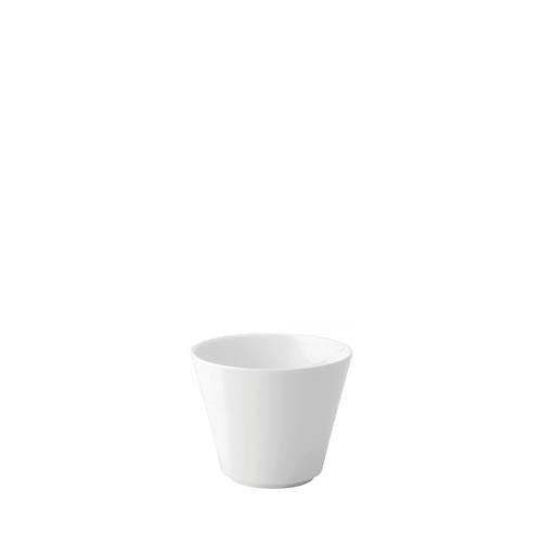 Utopia Anton Black  Flared Straight Sided Bowl 3oz White