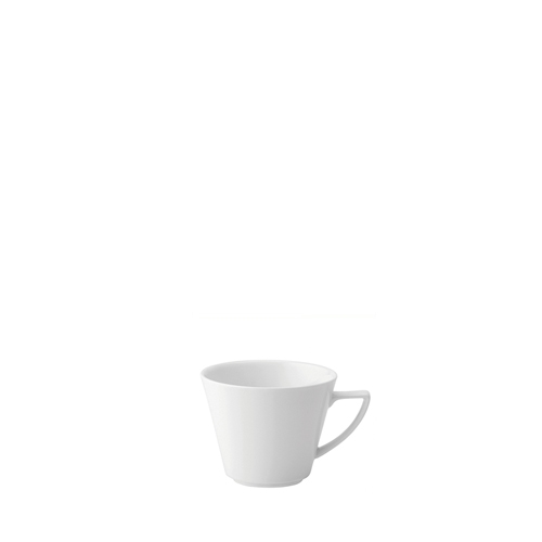 Utopia Anton Black  Deco V Shaped Cup 3oz White