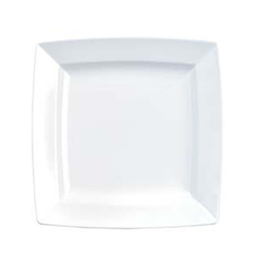 "Churchill Alchemy Energy Square Plate 11"" White"