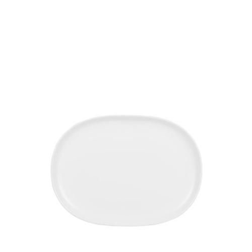 "Churchill Alchemy Moonstone  Plate 6.4""x8.75"" White"