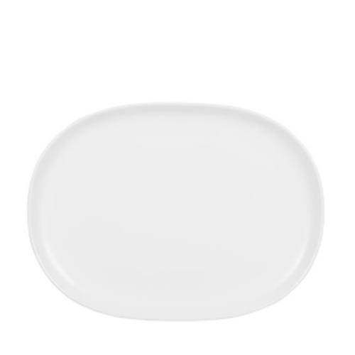 "Churchill Alchemy Moonstone  Plate 10.25""x13.75"" White"