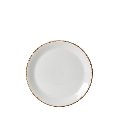 "Steelite Dapple Brown Coupe Plate 8"" White/Brown"