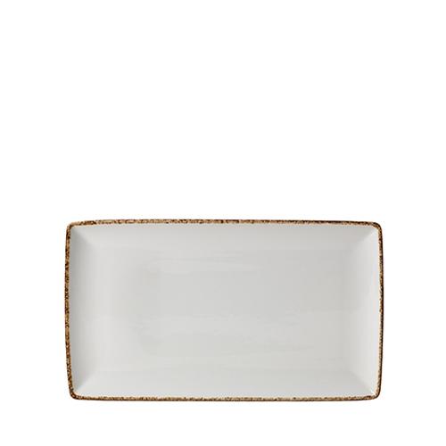 Steelite Dapple Brown Rectangle One 27 x 16.75cm White/Brown