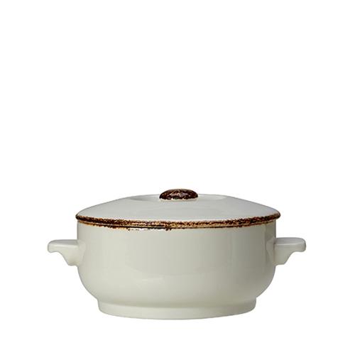 Steelite Dapple Brown Soup Bowl Base 15oz White/Brown