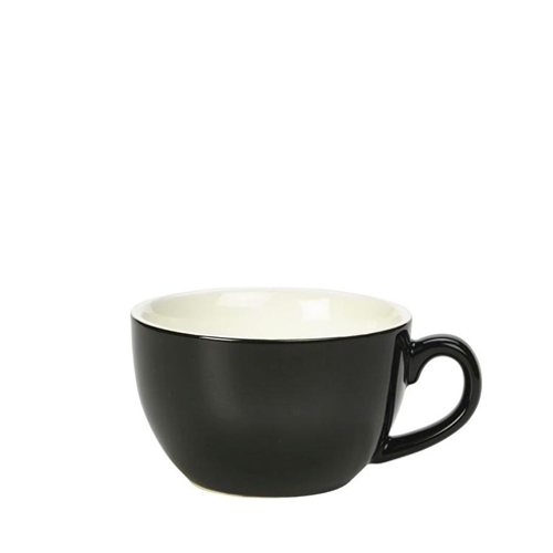 Genware Bowl Shaped  Cup 25cl Black