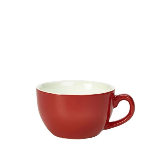 Genware Bowl Shaped  Cup 25cl Red