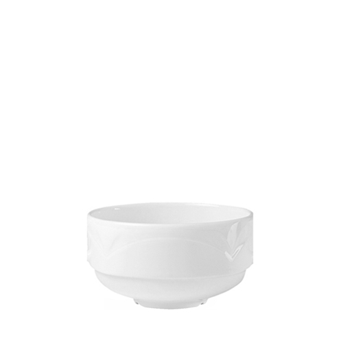 Steelite Bianco  Unhandled Stacking Soup Cup 10oz White
