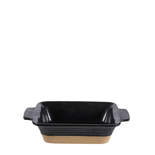 Churchill Black Igneous Rectangle Dish 6.75