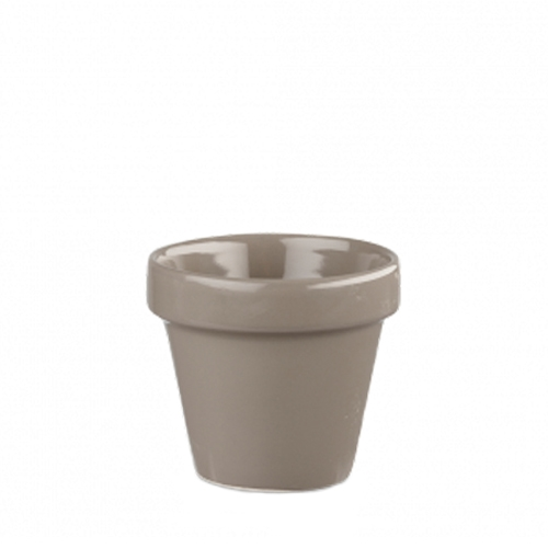 Churchill Bit On The Side Pebble Plant Pot 12oz Grey