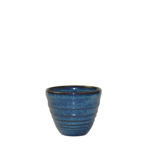 Churchill Bit On The Side Sapphire Glaze Ripple Dip Pot 2oz Blue
