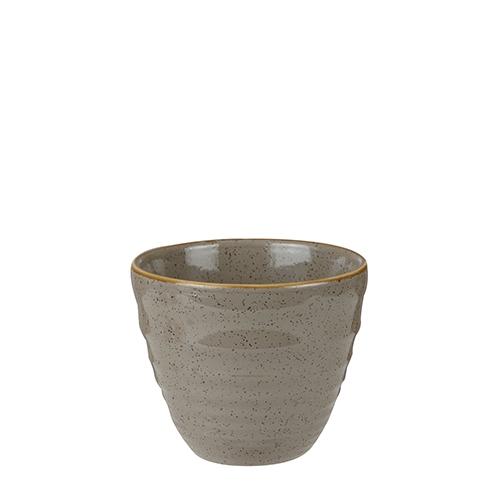 Churchill Stonecast Ripple Chip Mug 28cl Peppercorn Grey