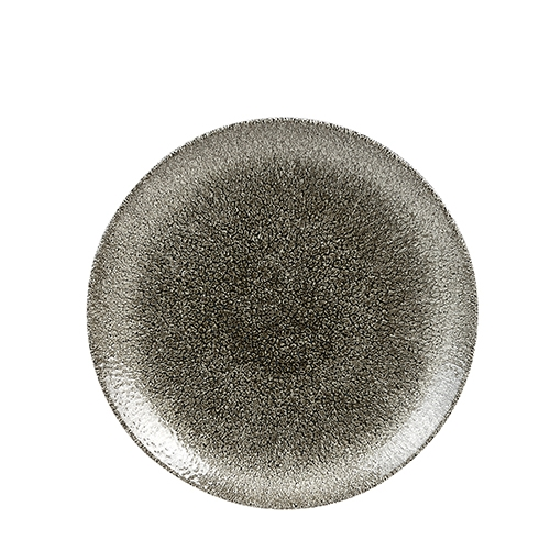 Churchill Raku Quartz Coupe Plate 26cm Black