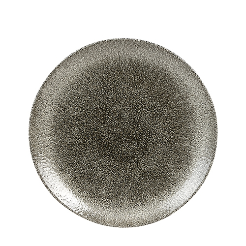 Churchill Raku Quartz Coupe Plate 28.8cm Black