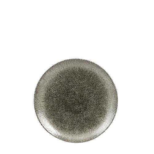 Churchill Raku Quartz Coupe Plate 16.5cm Black