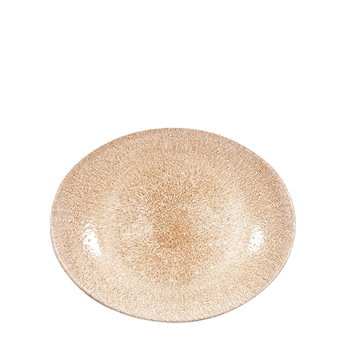 Churchill Raku Garnet Oval Coupe Plate 27 x 22.9cm Orange