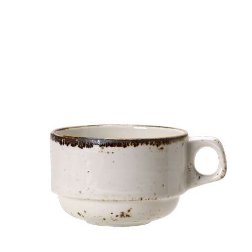 Steelite Craft White Stacking Cup 28.4cl White/Brown