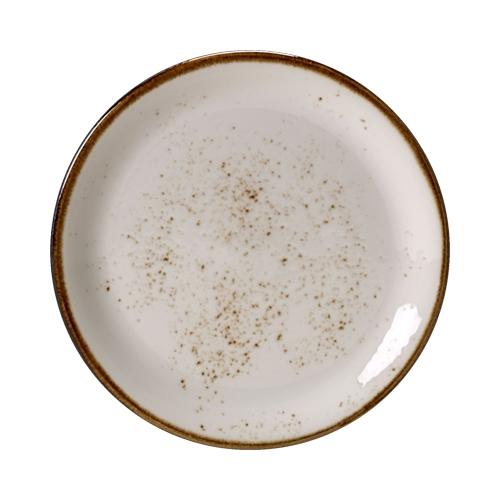 """Steelite Craft White Coupe Plate 11.75"""" White/Brown"""