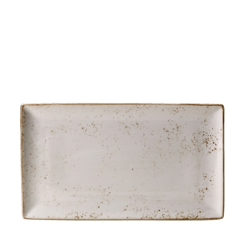 Steelite Craft White Rectangle Three 33 x 19cm White/Brown
