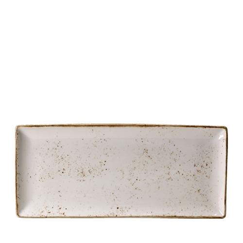 Steelite Craft White Rectangle Four 37 x 16.5cm White/Brown