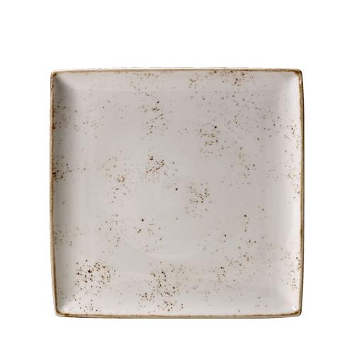 Steelite Craft White Square Platter One 27 x 27cm White/Brown