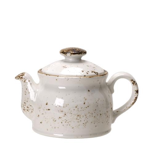 Steelite Craft White Club Teapot 42.5cl White/Brown