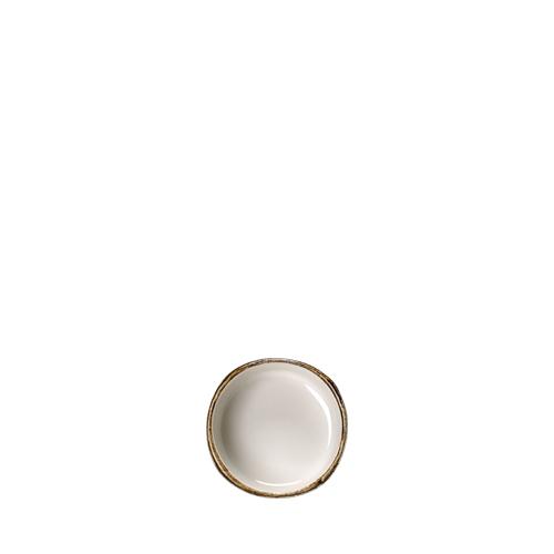 """Steelite Craft White Taster Dip 6.5cm (2.5"""") White/Brown"""
