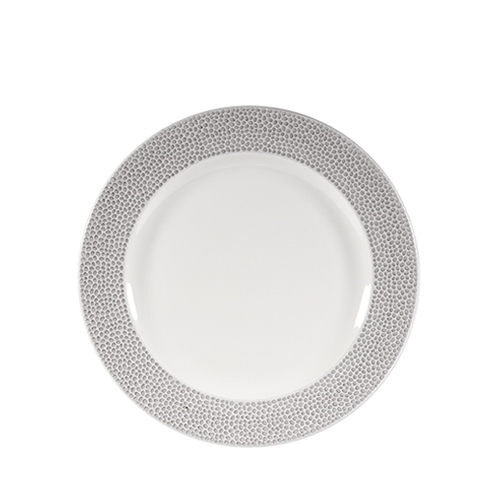 "Churchill Isla Plate 8 1/4"" Grey & White"