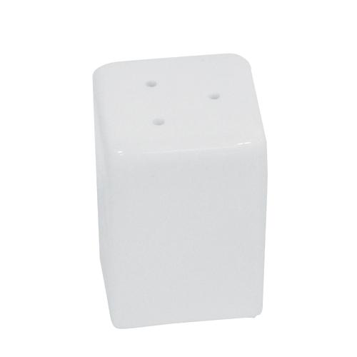 Porcelain Square Salt Pot 5.5 cm x 3.5cm White