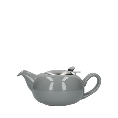 Kitchen Craft London Pottery Pebble Teapot 2 Cup Gloss Light Grey