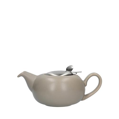 Kitchen Craft London Pottery Pebble Teapot 2 Cup Matt Putty