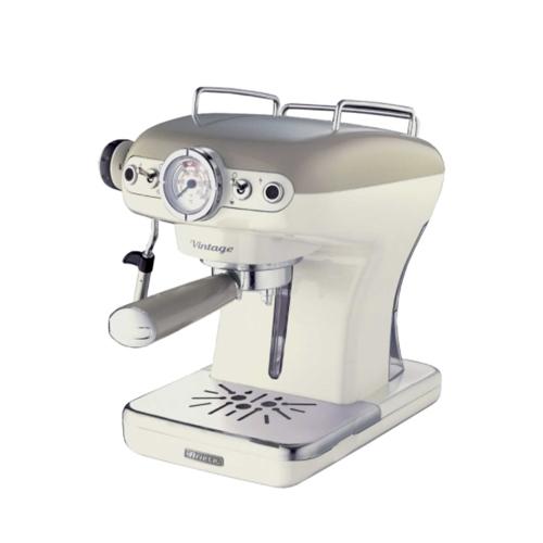Vintage 2 Cup Espresso Machine Beige