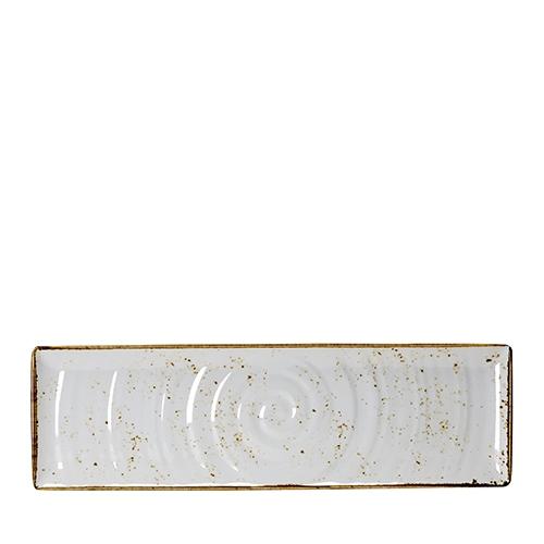 Steelite Craft White Melamine  Rectangular Platter GN 2/4 White/Brown