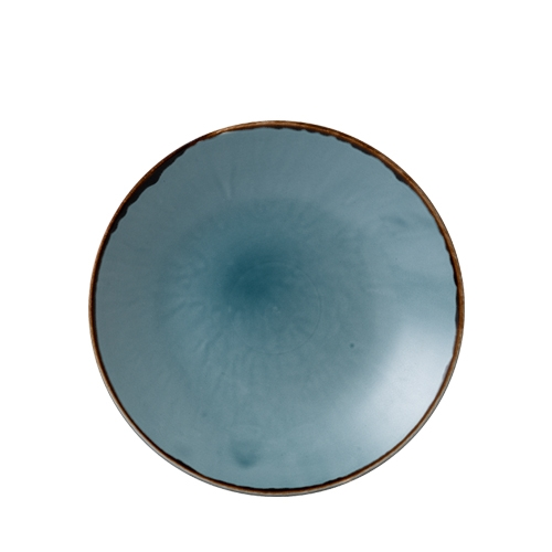 Dudson Additions by Churchill Harvest Deep Coupe Plate 25.5cm Blue