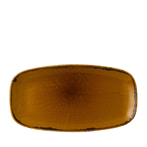 Dudson Harvest Chefs' Oblong Plate 35.5 x 18.9cm Brown