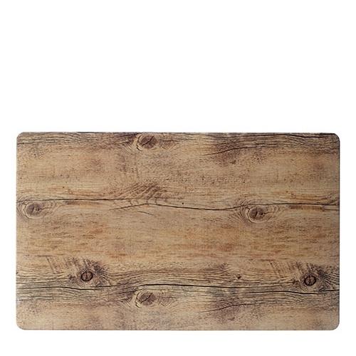 Steelite Melamine Driftwood  Rectangular Platter GN 1/1 Brown