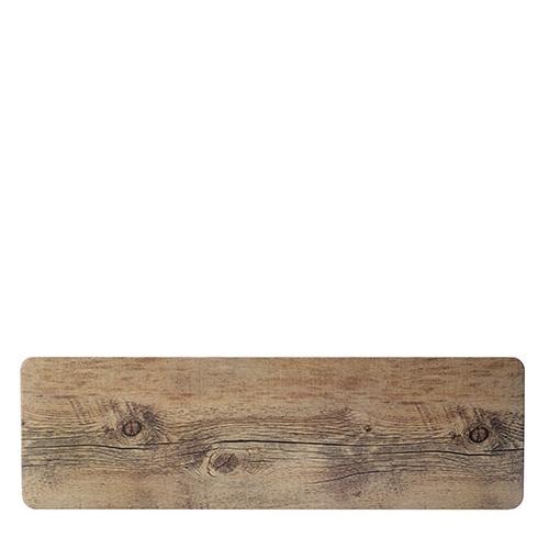 Steelite Melamine Driftwood  Rectangular Platter GN 2/4 Brown