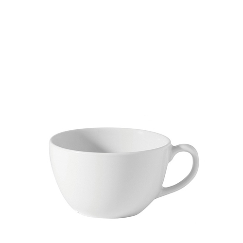 Porcelain Bowl Shaped Cup 12oz White