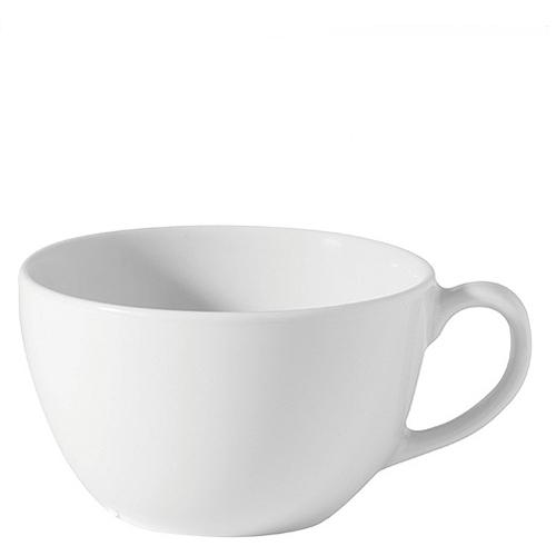 Porcelain Bowl Shaped Cup 14oz White