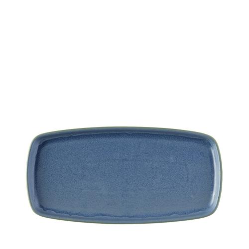 Churchill Emerge Oblong Plate 14.7cm x 30.0cm Oslo Blue