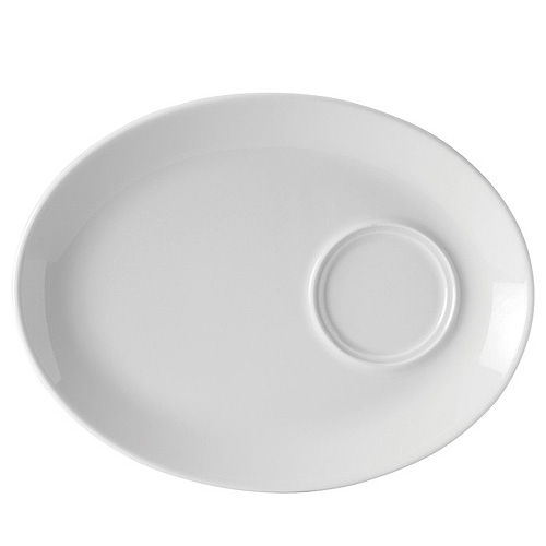 Utopia Porcelain Oval Gourmet Plate 11