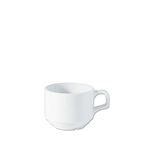Utopia Porcelain Stacking Cup 7oz White