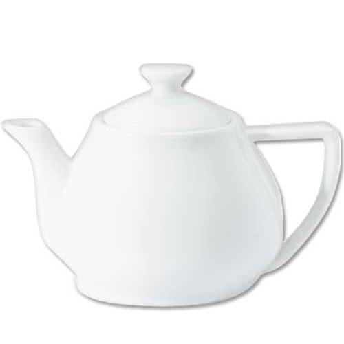 Utopia Porcelain Contemporary Tea Pot 32oz White