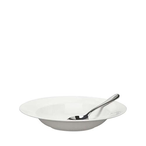 """Elia Glacier Bone China Rimmed Pasta Bowl 10.75"""" White"""