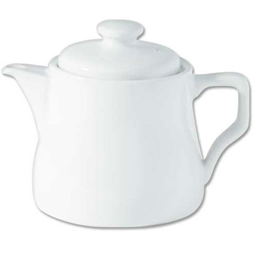 Porcelain Traditional Tea Pot 28oz White