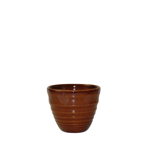 Churchill Bit On The Side Cinnamon Glaze Ripple Dip Pot 2oz Brown