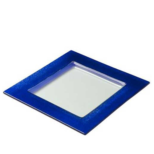 Steelite  Creations Blue Border Plate 25 x 25cm  White/Blue