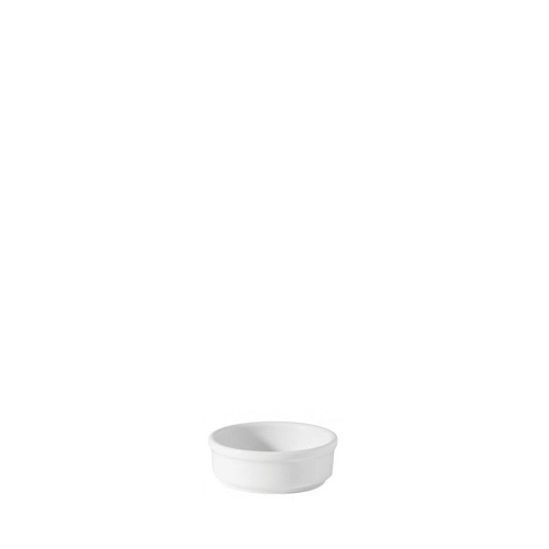 Utopia Porcelain Mustard Dish 1oz White