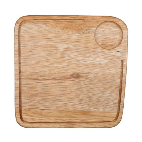 Churchill Art De Cuisine Medium Square Oak Board 26 x 26 x 2cm  Rustic Oak